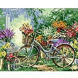 Cuadro De Bicicleta Con Figura De Paisaje Rural Por Números, Pintura Al Óleo Diy Por Números, Conjunto De Decoración Moderna Para El Hogar, Cuadro En Lienzo