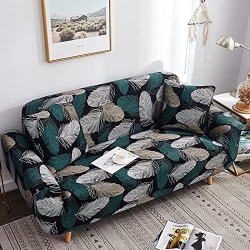 Toalla de sofá con Funda geométrica Rosa elástica Flexible, Funda de sofá Envuelta con Todo Incluido para sillón de sofá de Diferentes Formas A7 de 2 plazas