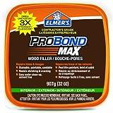 Elmer's 69022 Probond Max Stainable Wood Filler, Interior/exterior, 907g (32 Oz.) Tub