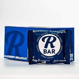 RBar Whole Food Blueberry Energy Bar - Dairy & Gluten Free Snacks, Vegan Protein Bar - 3 Healthy Ingredients (10 Pack)