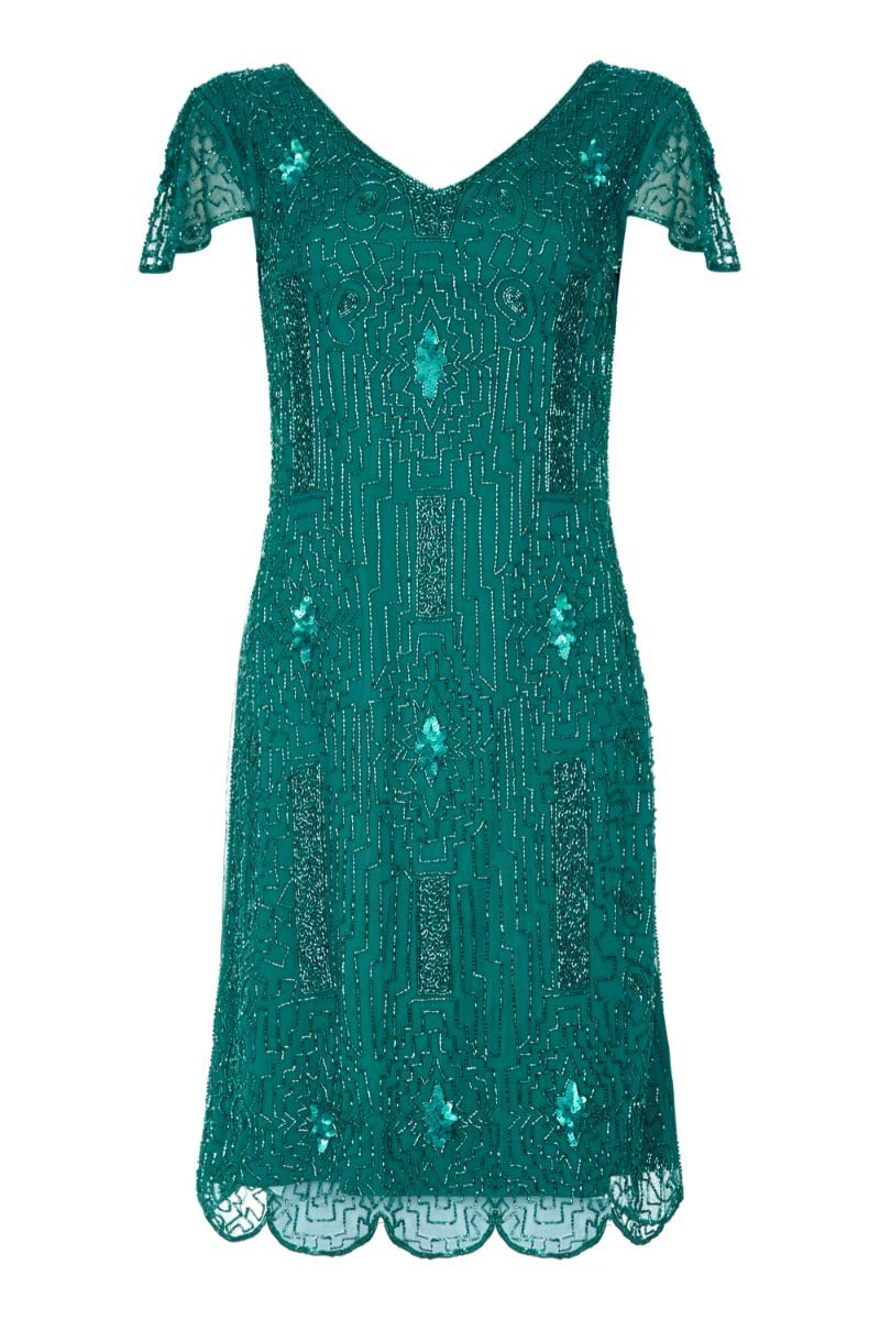Available at Amazon: Downton Abbey Flapper Dress in Teal