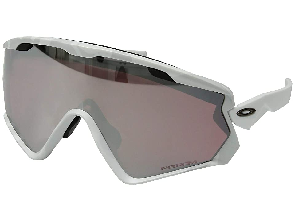 Oakley Wind Jacket 2.0 Snow (Snow Camo w/ Prizm Snow Black) Athletic Performance Sport Sunglasses