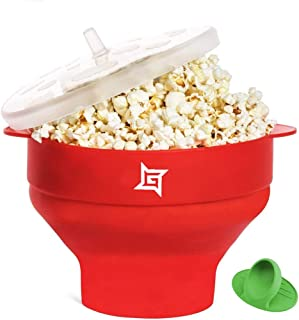 Silicone Popcorn Maker Collapsible Popcorn Bowl Microwave Popcorn Popper Popcorn Machine Maker BPA Free Healthy Pop Corn w...