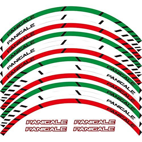 para Ducati 1299 Panigale S 959 Panigale 12 x Edge de Grueso Etiqueta Externa de la rotación de la Rotura de la Raya de Las calcomanías (Color : Dark Grey)