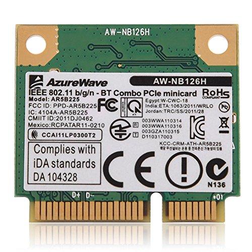 VBESTLIFE 2.4G Bluetooth WiFi 2 in 1 Wireless-Karte für Mini PCI E Kartensteckplatz für Dell/Asus/Toshiba/BenQ,kompatibel mit PC/Laptop mit HM55 / HM57 / HM65 / HM67 / HM75 / HM77 Chipsatz