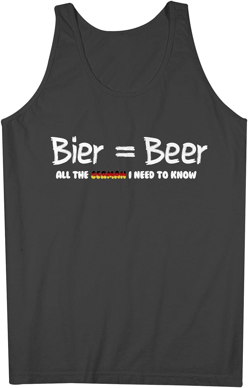 Beer All The German I Need To Know おかしいです 男性用 Tank Top Sleeveless Shirt