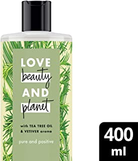 Love Beauty and Planet Body Wash Tea Tree Oil & Vetiver, 400ml