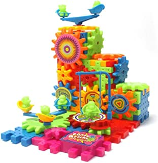 81pieces Electric Blocks for Toddlers,DIY Toys Educational Learning Construction Toys, 3D Toy Sets Gift for Kids Boys Girl...
