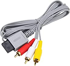 AV Cable for Wii Wii U, AV Cable Composite Retro Audio Video Standard Cord for Nintendo Wii Wii U