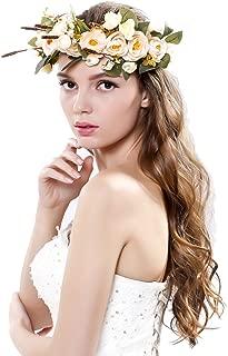 Ever Fairy Women Handmade Rose Flower Wreath Crown Wedding Festivals Garland Crown