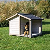 Trixie 39516 natura Hundehütte Lodge mit Satteldach, S: 100 × 82 × 90 cm, grau