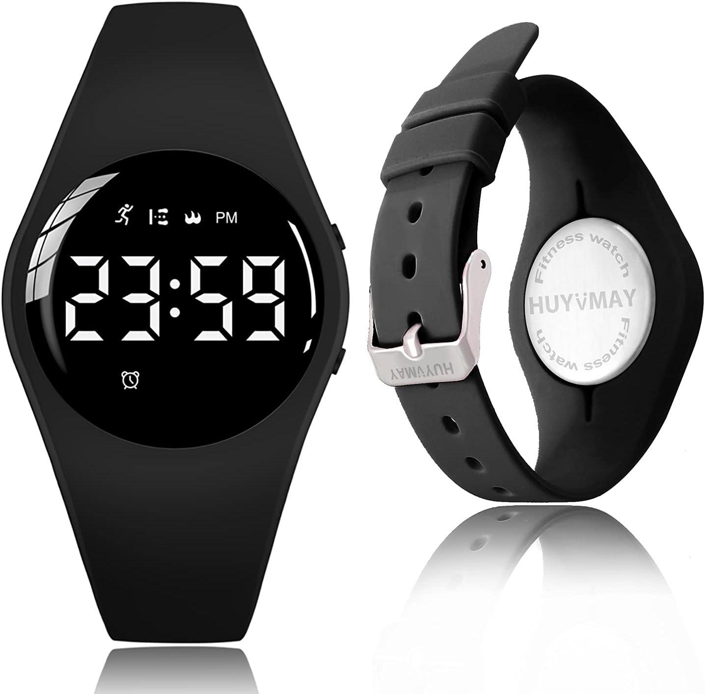 HUYVMAY Reloj rastreador de actividad física, sin App sin Sin Bluetooth necesidad, carga de 1 hora por 20 días de uso, reloj impermeable IP68 para estudiantes niños mujeres, podómetro reloj deportivo