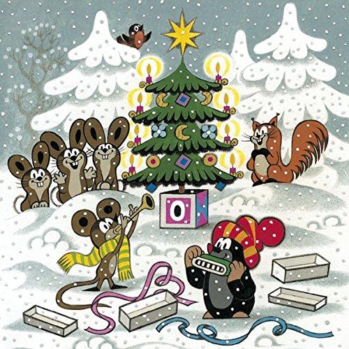 Adventskalender - Der kleine Maulwurf: Schöner Kalender für Kinder mit 24 süßen Bildchen zum Aufhängen. 45 x 45 cm.
