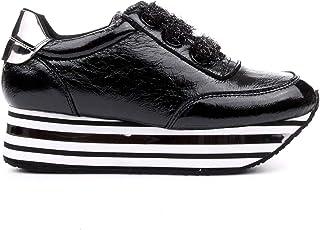 CafèNoir Sneakers in Naplak con macrosuola a Righe Nuova Collezione (40 EU)