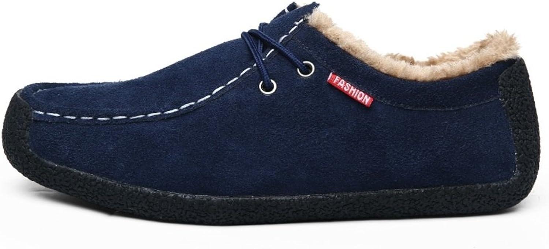 WLJSLLZYQ Winter und samt Bohne Stiefel mnnlich Faule Leute Schuhe Koreanische Version von Trend Sport-Schuhe Herrenschuhe Schnecke Schuhe