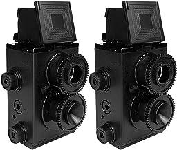 DEVMO 2 PCS DIY Lightnes Classic Retro Holga Lomo Recesky TLR Camera 35mm Film Twin Lens Reflex Kit