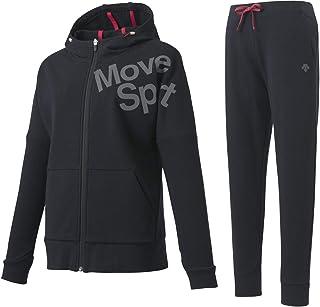 (デサント) DESCENTE Move Sport レディース 綿混スウェット フルジップパーカー・パンツ上下セット DMWOJF21/DMWOJG21