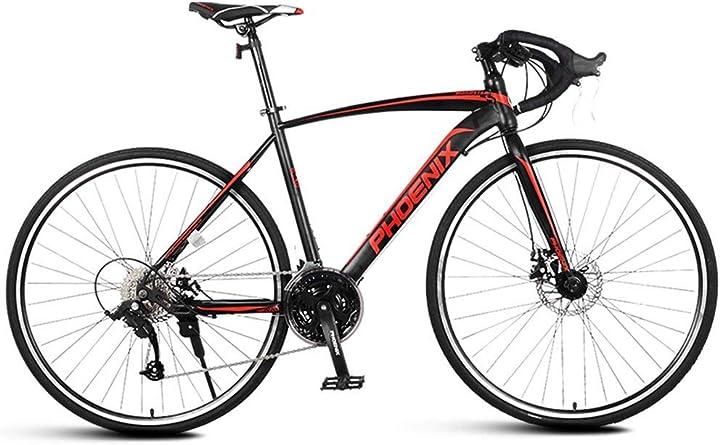 Bici da strada phoenix con telaio in acciaio ad alto tenore di carbonio, bici da città, bianco, 21 velocità 6753982982