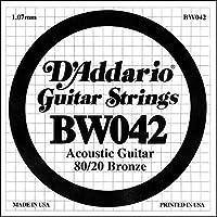D'Addario ダダリオ アコースティックギター用バラ弦 80/20ブロンズ .042 BW042 【国内正規品】