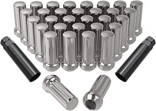 ECCPP Chrome Wheel Lug Nuts 24 Pieces 14x1.5 Hex Drive 7//8 1.12 Tall Open End Lugs Nuts for Chevy GMC Cadillac Factory Style Lugs 1988-2014