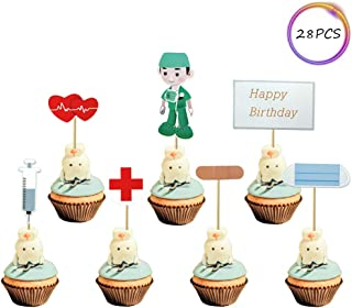 Set of 28 Doctor Party Cupcake Toppers,Birthday Cake Decorations
