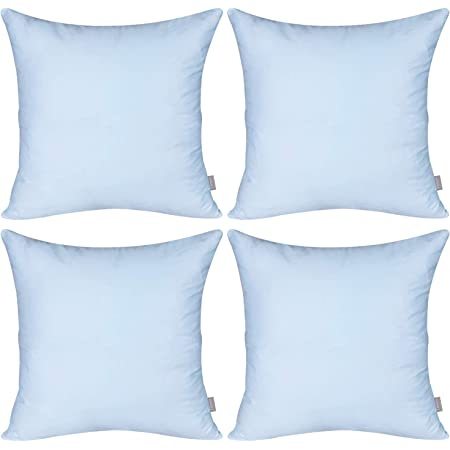 Amazon Com Tangdepot Cotton Solid Throw Pillow Covers 16 X 16 Light Blue Furniture Decor
