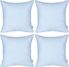 4-Pack Cotton Comfortable Solid Decorative Throw Pillow Case Square Cushion Cover Pillowcase (Cover Only,No Insert) (22x22...
