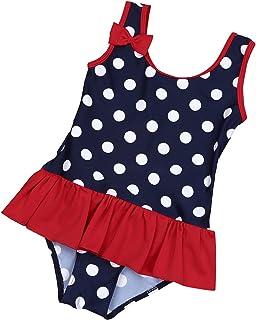 4967763c08 ranrann Bébé Fille Maillot de Bain 1 Pièce Tankini de Plage Enfant Bretelle  Bikini à Pois