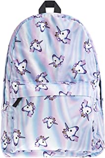 Pink Unicorn Rainbow Bag Fantasy Backpack Rucksack Travel Bags Daypack