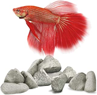 SunGrow Mineral Rocks for Betta, Provides Hideout and Breeding Spot, Aids in Lowering Stress Level of Fish, 3-6 pcs per Pack