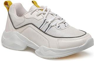 CS20002 Beyaz Kadın Sneaker Ayakkabı