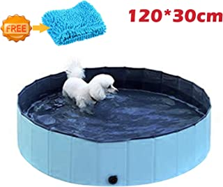 xuehaostore Piscina para Perros Plegable, Bañera para Perros Gatos, Natacion Mascotas-Azul (120 * 30cm)