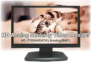 101AV 19.5 Inch Analog HD 16:9 Professional LED Security Monitor Work with HD-TVI, AHD, CVI & CVBS 1x HDMI & 2X BNC Video Inputs for CCTV DVR Home Office Surveillance System