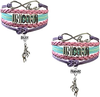 Unicorn Bracelet for Girls | BFF Best Friends Unicorn Gifts Set for Teen Girls | Unicorn Accessories | Double Friendship Bracelet | Cute Unicorn Stuff Items for Sister
