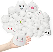 WATINC Random 60Pcs DIY Squeeze Toys Bulk, Slow Rising Stress Relief Kawaii Cream Scented Toy, Lovely Novelty Mini Animal ...
