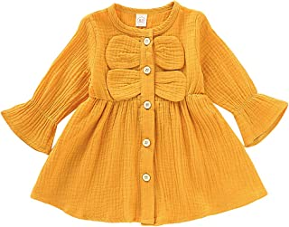 Toddler Baby Girls Clothes Dresses Outfits Cute Ruffle Princess Party Tutu Bowknot Dress