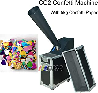 AZALMU Confetti Cannon Machine Manual Control Mixed Color Paper for Professional Stage Special Effect Party