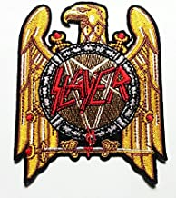 Slayer Heavy Metal Rock Punk Music Band Logo Patch Sew Iron on Embroidered Polo T-shirt Vest Cloth