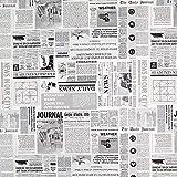 Fabulous Fabrics Dekostoff Ottoman News – Weiss/grau —