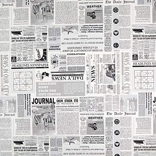 Dekostoff Ottoman News – weiss/grau — Meterware ab 0,5m — zum Nähen von Kissen/Tagesdecken, Gardinen & Homeaccessoires