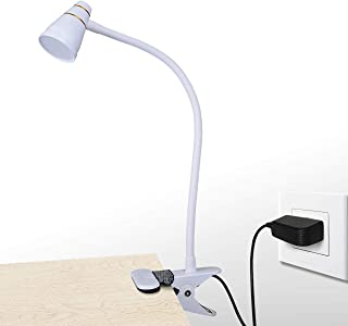 CeSunlight LED Clip Desk Lamp, Headboard Light with Strong Clamp, Bed Reading Light with 3000k-6500K Adjustable Color Temperature Options for Brighter Illumination (Milky White)