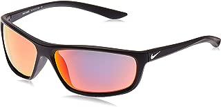 Nike Eyewear Men's Nike Rabid M Rectangular Sunglasses, Matte Black/White, 64 mm