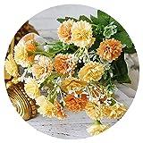 Fleurs Artificielles Fleurs Lilas Artificielles Blanches Petites Soie 20 Têtes Fausses Fleurs Bouquet Décoration Maison Noël Fête Mariage Motif Fleurs Jaune