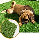 ALTRUISTIC Thick Realistic Artificial Grass Mat Customized Sizes, 5ft x 10ft Synthetic Fake Astro Turf Indoor Outdoor Garden Lawn Landscape, Faux Grass Rug with Drainage Holes