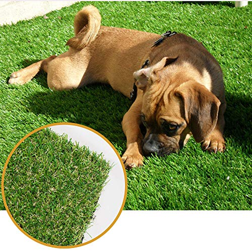 ALTRUISTIC Thick Realistic Artificial Grass Mat Customized Sizes, 10ft x 20ft Synthetic Fake Astro Turf Indoor Outdoor Garden Lawn Landscape, Faux Grass Rug with Drainage Holes