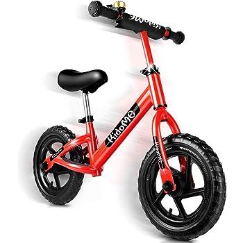 バランスバイク ペダルなし 自転車 子供用 ストライダー キックバイク バランス トレーニング 子供の手と目の協調能力を向上させ 子供の脳の発達を促進する 子供用自転車 ランニングバイク キッズバイク 軽量 カッコイイ ベル スタンド付き ハンドルとサドルの高さ調節可能 組み立て簡単 2歳 3歳 3~6歳子供用 日本語取り扱い説明書付き (レッド)