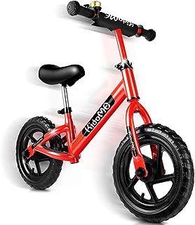 バランスバイク ペダルなし 自転車 子供用 ストライダー キックバイク バランス トレーニング 子供の手と目の協調能力を向上させ 子供の脳の発達を促進する 子供用自転車 ランニングバイク キッズバイク 軽量 カッコイイ ベル スタンド付き ハン...