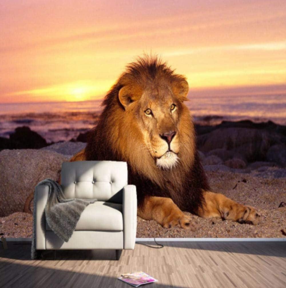 online Online limited product shopping Custom Murals Wallpaper Modern 3D Sunset Landscape Photo Wa Lion