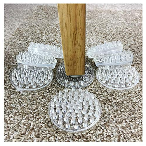 DIY Doctor CARPET SAVERS - No More Furniture Marks On Your CARPET!53 spikes each - Pack of 8 Castor Cups / Protectors - Almost Unbreakable 2' Cups