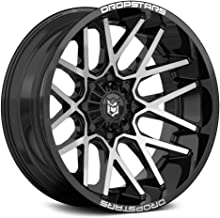 Dropstars Deep Concave Сustom Wheel - 654Mb Gloss Black with Machined Face 22